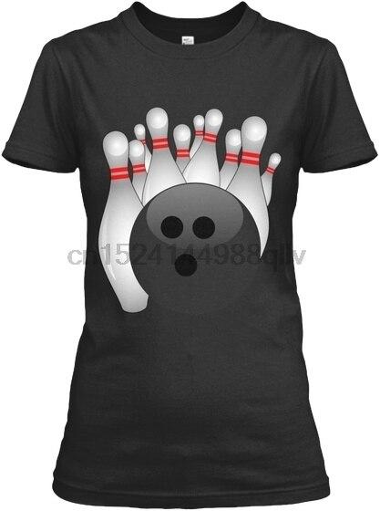 Шар для боулинга и булавки стоя Gildan Для женщин футболка