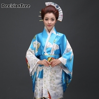 2019 new black woman lady japanese tradition yukata kimono flower vintage evening dress cosplay costume geisha kimono