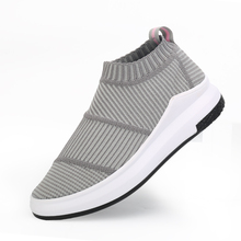 2018 Summer New Styles Flywire Stripes Designs Comfortable Walking Shoes Women Female Breathalbe Slip On Sneakers Sock Shoe