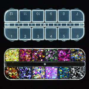 Image 4 - 1Box Shiny Round Ultrathin Paillette Nail Sequins Mixed Size Colorful Nail Tips Decorations Manicure 3D Nail Accessories  LAP