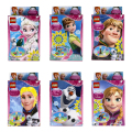 6pcs Mini Princess Friends Series Building Blocks Princess Anna Elsa Olaf Kristoff Figure Toy Compatible Lepine Friends Minifig