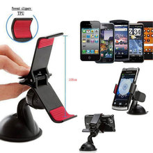 Universal 360degree spin Car Windshield Mount cell mobile phone Holder Bracket stands for iPhone samsung Smartphone GPS