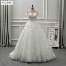 VNXIFM 2019 Wedding Dresses Backless Sleeveless Court Train