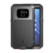 360 Graus Caso de Corpo Inteiro Para Samsung Galaxy A8 2018 Plus A6 S10 E Armadura De Metal À Prova de Choque Para O Caso Samsung a8 2018 Caso A8Plus