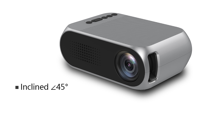 Excelvan YG320 Mini Projector Led Proyector Projetor 500LM Audio HDMI USB Mini YG-320 Projetor Home Theater Media Player Beamer (15)