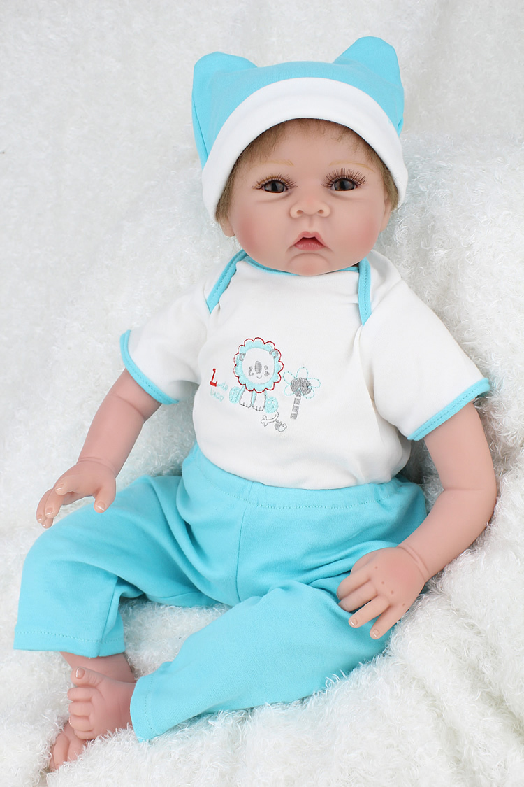 22 Inch Collectible Baby Doll Reborn Girls Realistic Baby