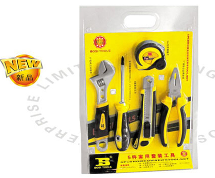 ФОТО free shipping BOSI 5 in 1 electrician hand tools set,household tool set
