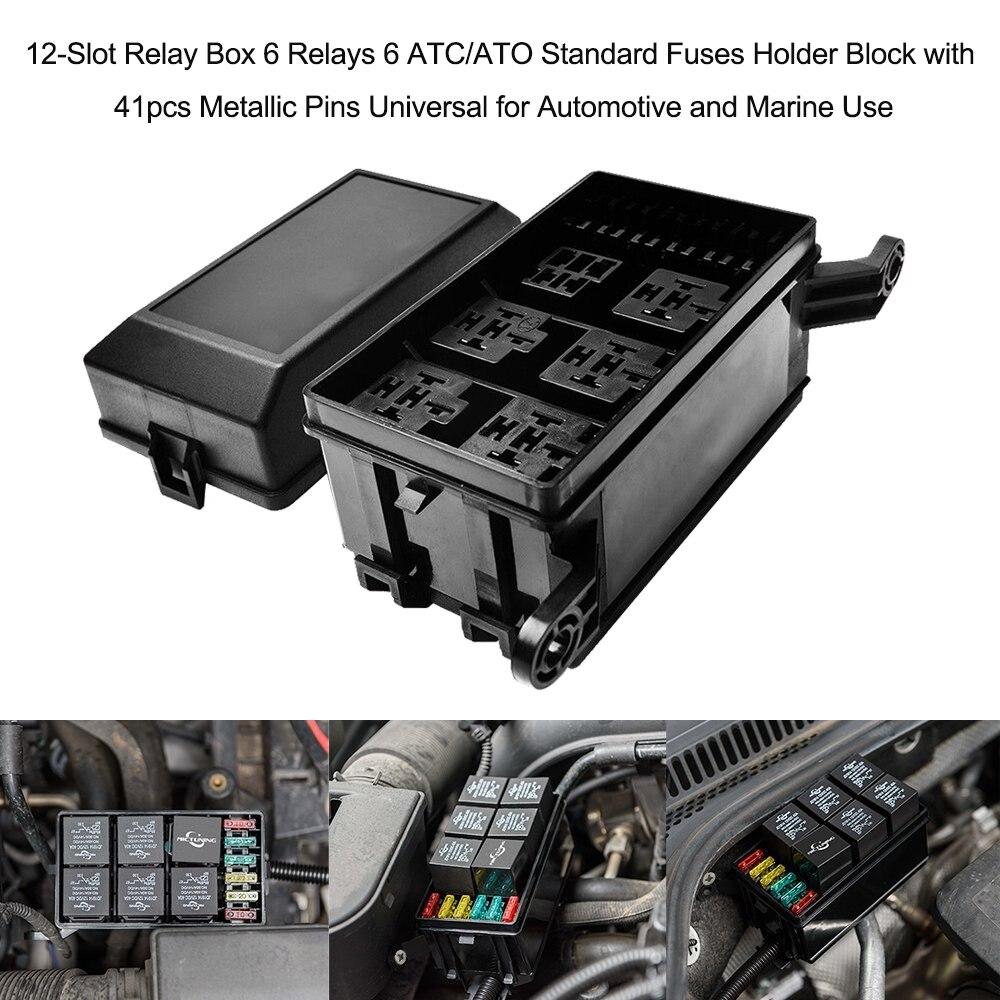 HTB1RHiZbAomBKNjSZFqq6xtqVXat 12 slot relay box 6 relays 6 atc ato standard fuses holder block
