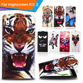 Newest  For Highscreen ICE 2 Factory Price Luxury Cool Printed Cartoon 100% Special PU Leather Flip case cover,Gift