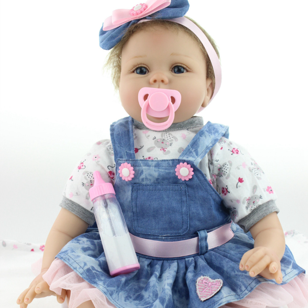 Baby girl dolls little 55cm cute baby toys Reborn baby doll simulation blink eyes children gifts new born gift high end for kids little cute flocking doll toys kawaii mini cats decoration toys for girls little exquisite dolls best christmas gifts for girls