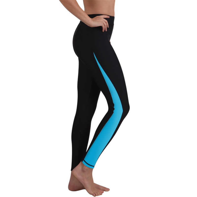 SBART Baru Upf50 UV Wanita Ruam Penjaga Celana Olahraga Legging Panjang Celana Lycra Rashguard Surf Swim Bawah