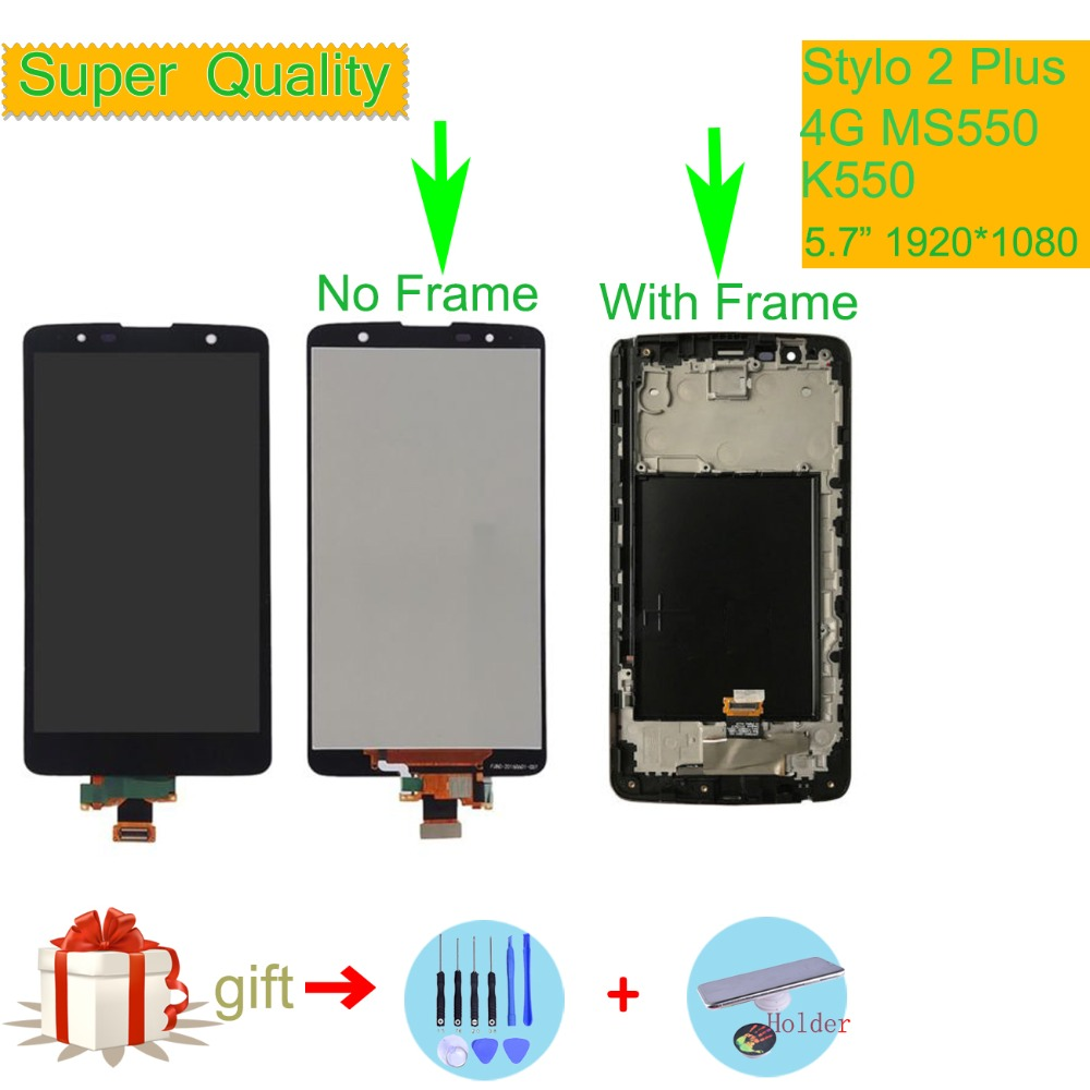 Original For LG Stylo 2 Plus 4G MS550 K550 LCD Display Touch Screen Digitizer with Bezel Frame Full Assembly replacement PartsOriginal For LG Stylo 2 Plus 4G MS550 K550 LCD Display Touch Screen Digitizer with Bezel Frame Full Assembly replacement Parts
