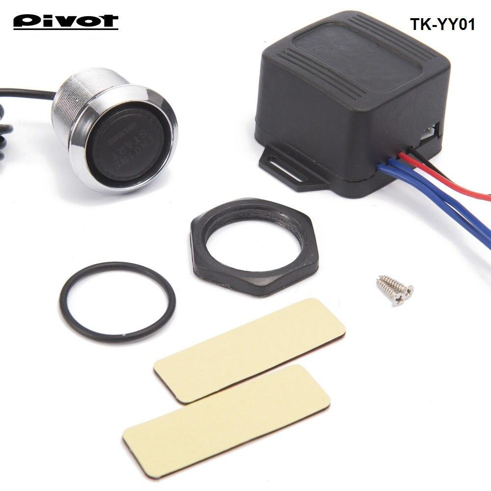12V DIY Car Blue LED Engine Start Push Button Switch Ignition Starter Kits Free