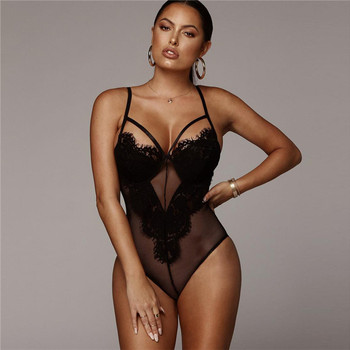Sexy Bodysuit Hollow Out One Piece Backless Jumpsuit Women's Bodysuits