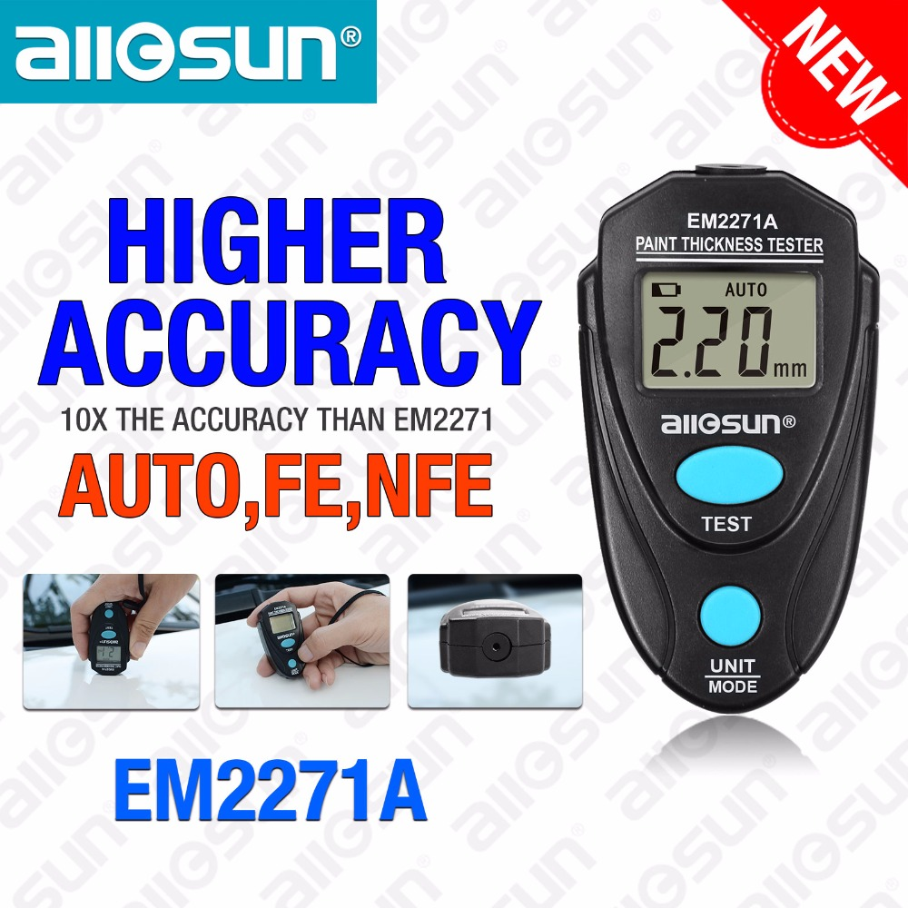Digital Thickness Gauge Coating Meter  Fe/NFe 0.00-2.20mm for Car Thickness Meter  Russian Manual EM2271A all-sun nicety automotive car paint thickness gauge gauges of paint and varnish film coating for cars meter cm8806fn fe nfe 2 in 1