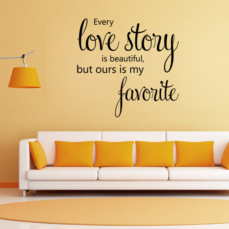 Family Love story Vinyl Quotes Wall Sticker Poster Living Room ...