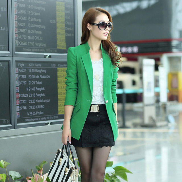 Free shipping 2013 spring and autumn new arrival fashion unisex women's brief ol small suit jacket 0221882265