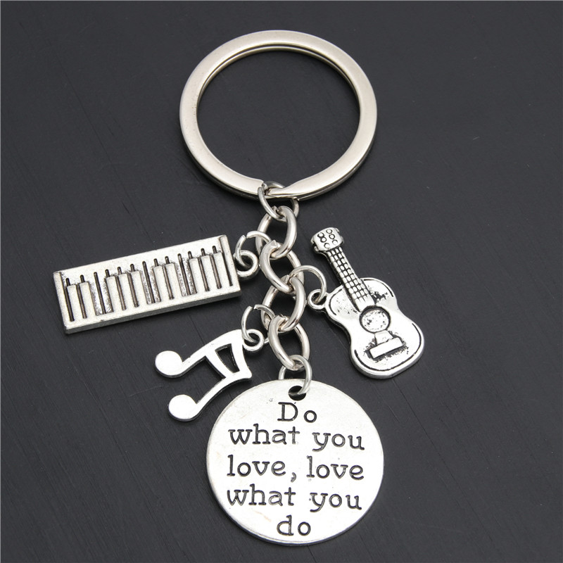 1pc Piano Teacher Keychains Musical Keyring Pianist Gift Music Note Guitar Charms For Handmade Jewelry Do What You Love E2039 image
