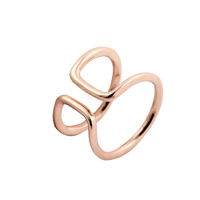 Geometric Double Line Ring