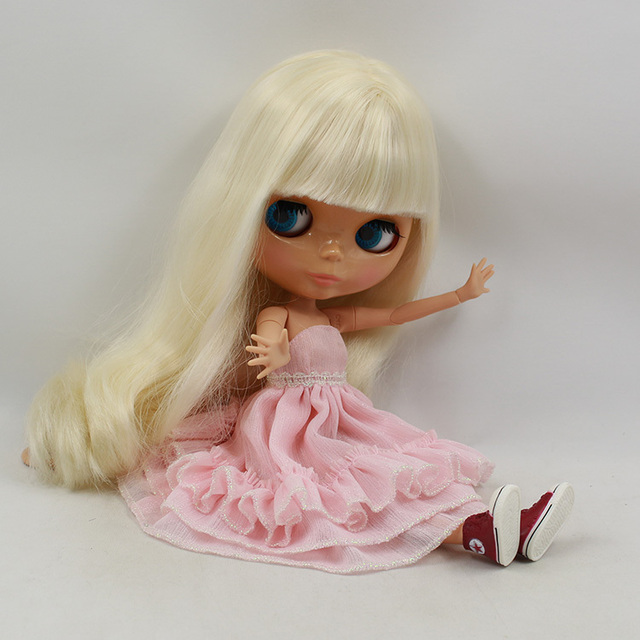 ICY Neo Blythe Doll White Blonde Hair Jointed Body