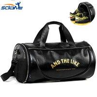 Scione PU Outdoor Messenger Bag Men Leather Sport Bag with Shoes Storage Male Travel Yoga Outdoor Shoulder Bolsa Sac De Bags