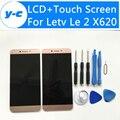 Letv x620 lcd + pantalla táctil de la alta calidad 100% nueva exhibición de la asamblea del reemplazo del digitizador para letv leeco le 2x620 5.5 pulgadas