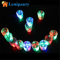 LumiParty 24 Pcs Lots LED Flash Light Up Cups Flashing Shots Light 24 LED Bar Night