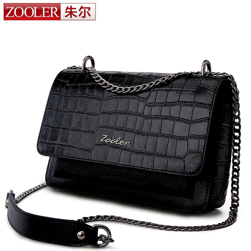 ZOOLER New Desinger Women Handbag Brand Crocodile Genuine Leather Shoulder Bag Evening Clutch Wallet Purse Chain Messenger Bag yuanyu new crocodile wallet alligatorreal leather women bag real crocodile leather women purse women clutches