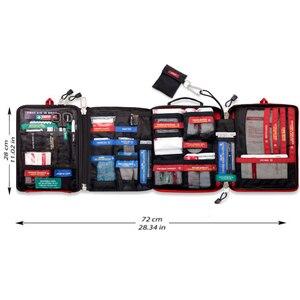 Image 4 - Güvenli Wilderness Survival araba seyahat ilk yardım kiti tıbbi çanta açık havada kamp yürüyüş acil durum kiti arıtma 4 bölümler paketi