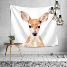 Deer Decorative Tapestries Polyester Fabric White Art Fashion Modern Wall Hanging Tapestry Large Home Decor 200*150CM Ornaments