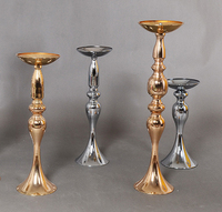 47cm/18.5 height Wedding master table candlestick T stage road guide Golden/Silver mermaid candle stick 10pcs/lot