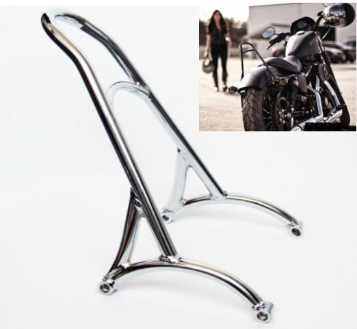 Short Passenger Iron Backrest Sissy-Bar Harley Sportster Chrome 1200 For XL 883/1200/04-15