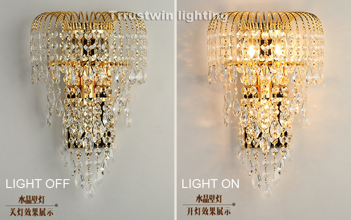 Kronleuchter Gold Kristall ~ Große k wand leuchte halterung lampe crysting kristallines