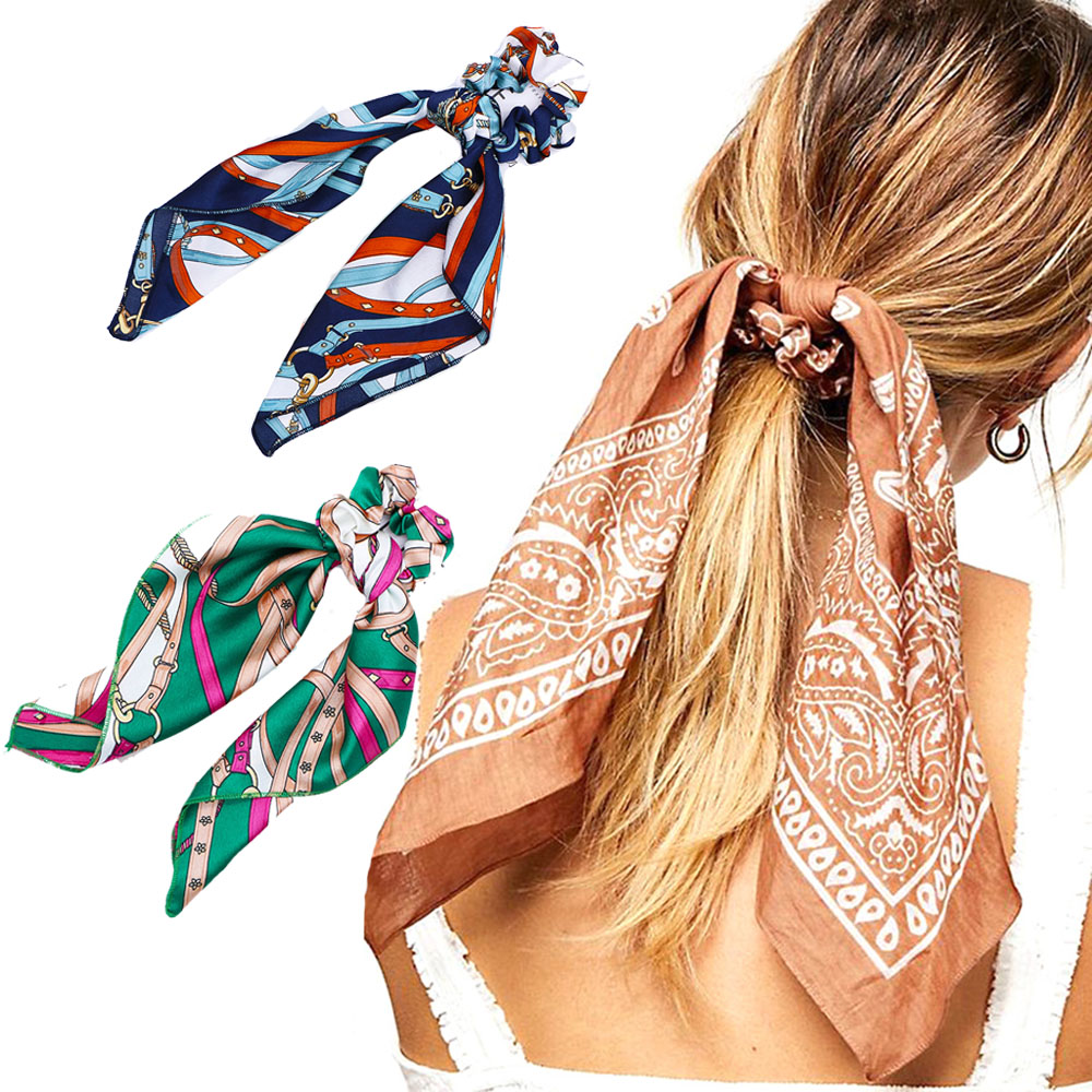 2019 Women Elastic Hair Band Multi-function Bow Hair Ropes Girls Hair Ties Ponytail Holder Headband Hair Accessories