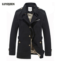 Men Casaco Inverno Homem Casual Mens Jackets And Coats Fashion Solid Cotton Overcoat New Trench Coat