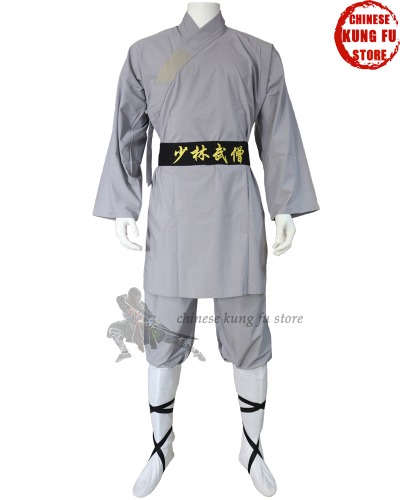 Beautiful Gray Cotton Shaolin Monk Kung fu Uniforms Tai chi Martial arts Wing Chun Wushu font