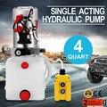 4 Quart Hebebühne Hydraulische Kunststoff Pumpe Netzteil Einfachwirkend für Dump Trailer 12 V