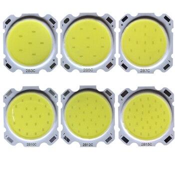 5pcs a lot 3W 5W 7W 10W 12W 15W High Power LED COB Light Beads lamp Bead Bulb Chip Spot Downlight Diode Lamps