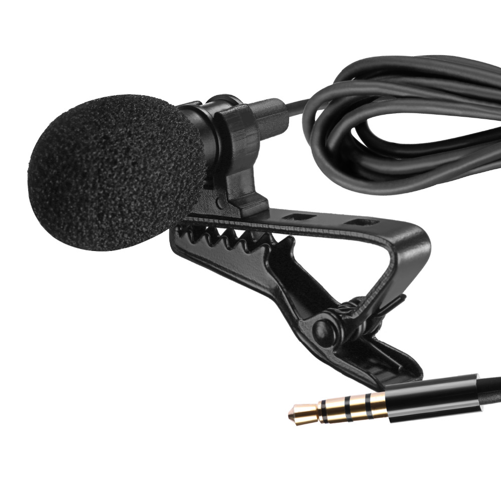 Neewer Lavalier Recording Condenser Mic, Mini Hands Free Clip-on Lapel Compatible With Apple IPhone Android & Windows Smartphone