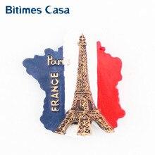 Bitimes 3D магниты на холодильник Парижская башня магнитные стикеры на холодильник дорожные Сувениры Смола Aimant домашний декор Imanes