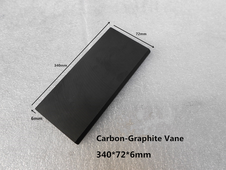 340x72x6 mm EK60 Carbon-Graphite Vane  for  Vacuum Pumps /  carbon Vanes blade ,graphite sheet