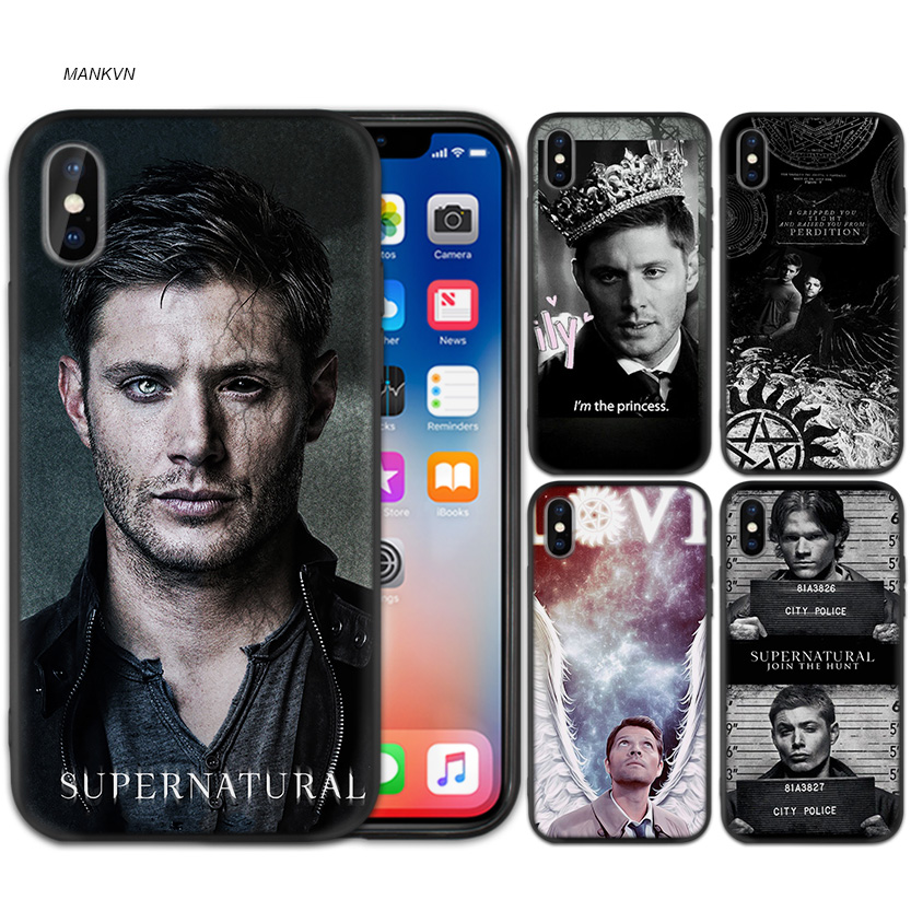 Supernatural Tv Show Black Scrub Silicone Soft Case Cover Shell for iPhone XS Max X XR 6 6s 7 8 Plus 5 SE 5S Phone Pattern Shell image