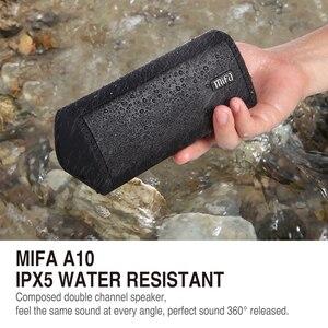 Image 2 - Alto falante portátil mifa a10, wireless, som estéreo, sistema de 10w, mp3, áudio aux com microfone para música iphone do android, iphone