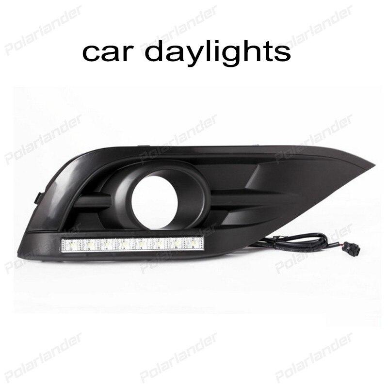 Daytime running lights for H/onda C/RV 2012-2015 ccar styling auto lamps drl led daytime running lights car styling for h onda c ivic 2011 2015 auto drl fog lamps