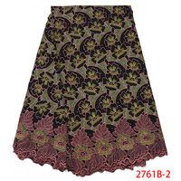 2019 Latest Sample Hand Made High Quality African Dry Coton Lace African Lace Fabric Austria Swiss Voile QF2761B 2
