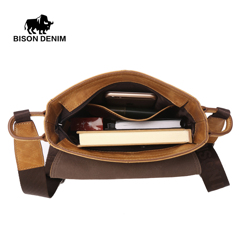 bison denim dos homens de Size : L21cm*w5.5cm*h25cm (fit For Ipad)