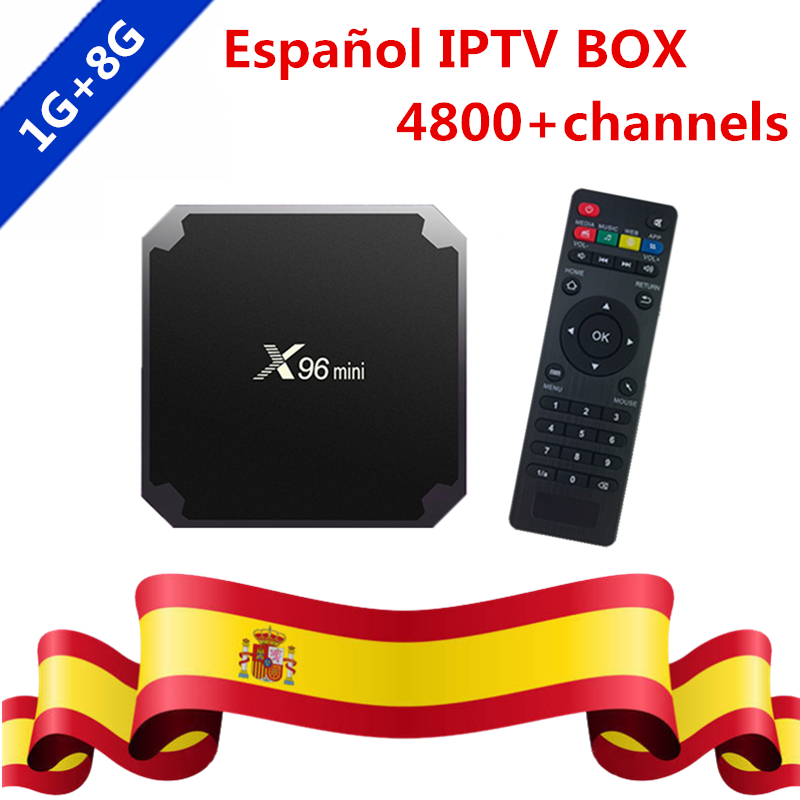 Spain X96 MINI S905W Android 7.1 4K TV Box Spanish IPTV Arabic Portugal French IPTV Subscription Set Top Box Sports Media Player
