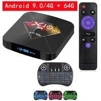 R-TV caixa x10 mais caixa de tv android 9.0 conjunto inteligente caixa superior allwinner h6 4 gb 32 gb/64 gb 2.4g wifi 6 k h.265 media player pk x96 max