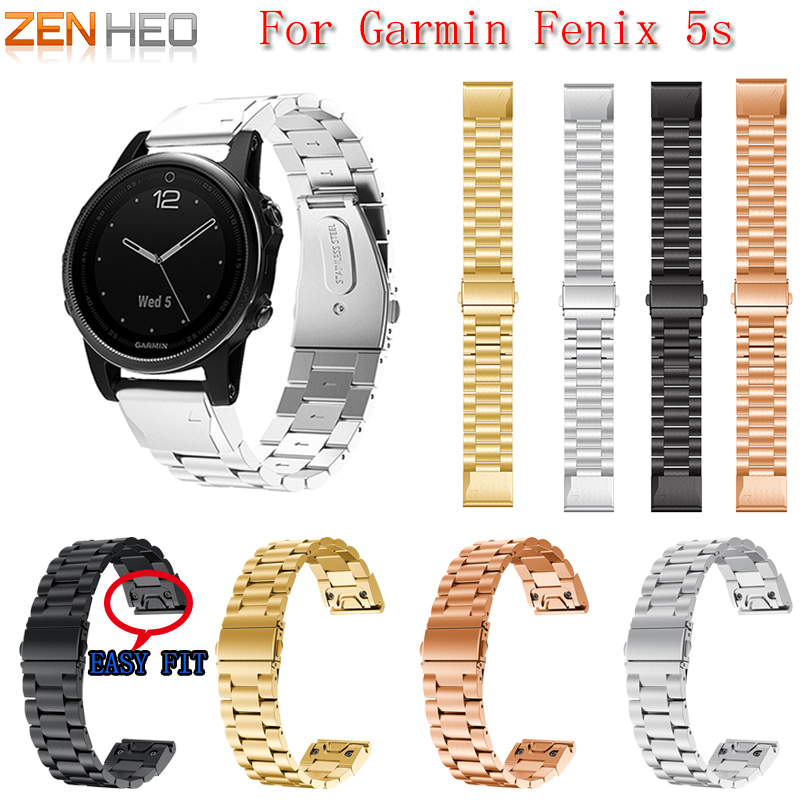 Wristband Bracelet Smart-Watch Garmin Fenix Strap Quick-Release-Replacement Stainless-Steel