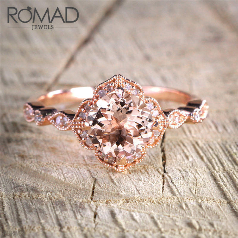 Romad Fair Cubic Zirconia Infinity Rings Rose Gold Color Fashion Spacial Wedding/Engagement Ring Jewelry For Women Gift anell R4
